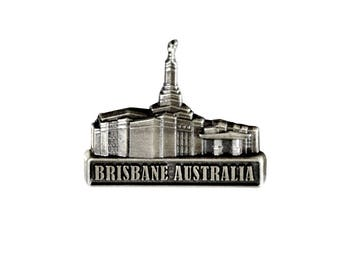 Brisbane Australia Temple Silver Pin - LDS Gifts