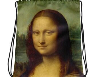 Mona Lisa, Leonardo da Vinci - Drawstring bag
