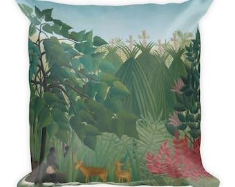 Henri Rousseau, The Waterfall - Square Pillow