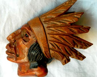 Vintage hand-carved native American peace pipe bowl
