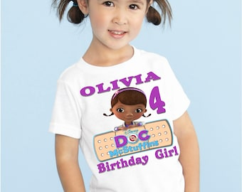 Doc McStuffins Birthday Shirt, Personalized T-shirt, Birthday Party Shirt, Birthday Outfit, Invitations, Party Decorations, Birthday, Party