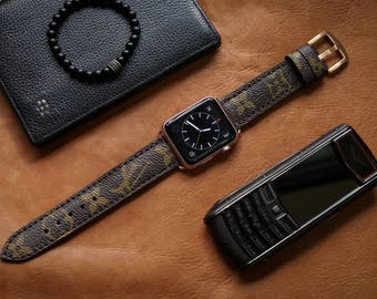 Artisan Watch Strap Handmade Brown LV Strap L8 Fits Apple watch Series 1 Series 2, Nike+ version 38mm or 42mm