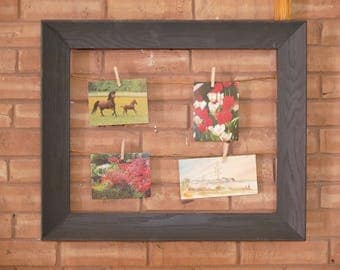 Charcoal Frame String Picture Display
