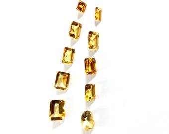 Citrin faceted gemstone 4 to 9mm