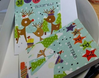 set of 10 gift tags or greeting cards