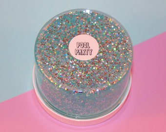 Pool Party - Clear Slime with Holographic Glitter
