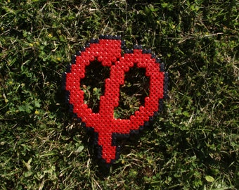 Pixel Art / Bead sprite Phi rebellious (Red/Red)