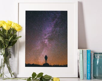 Space Print, Digital Printable, Galaxy Print, Space Photography, Space Art, Outer Space Print, Milky Way Print, Space Poster, Space Decor.