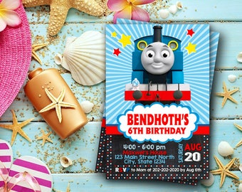 Thomas The Train Invitation / Thomas The Train Birthday / Thomas The Train Birthday Invitation / Thomas The Train Party / Thomas Train-262