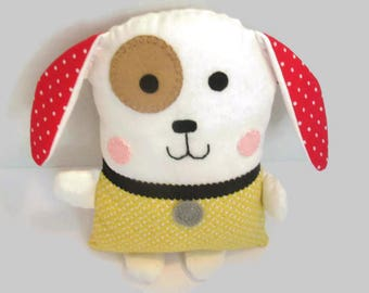 Handmade dog plushie stuffed toy