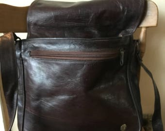 Bags-Bu'ShaNaturals/Maiden Africa Messenger Bag-Gift-Leather/Cross Body Bag-Adjustable Strap/Made In Africa