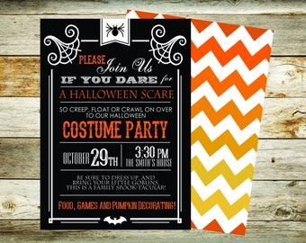 Custom Halloween Invitation Digital FIle