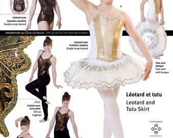 Jalie 2915 - Princess Seam Leotard with Tutu Skirt / 22 Sizes / Child & Adult