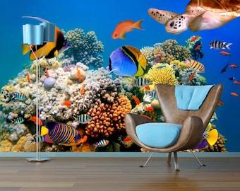 Removable Wallpaper Mural Peel & Stick Underwater World