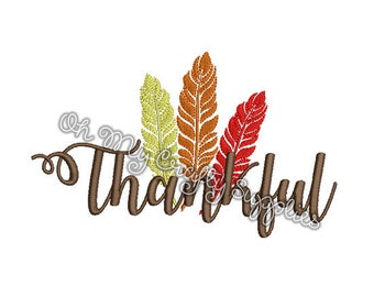Thankful Embroidery Design