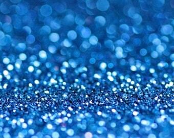 BLUE BIO GLITTER - Biodegradable Glitter- Electric Blue- Festival Bio Glitter -Eco Friendly -Mermaid Glitter - Cosmetic Grade - 200 microns
