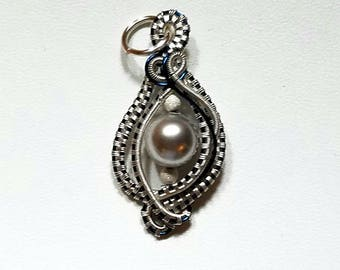 Swarovski pearl drop pendant