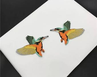 hummingbird patch ,iron on patch ,embroidered patch ,jacket patch ,gorgeous patch ,backpack patch