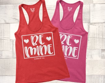 Valentine Tank Top, Be Mine Tank, Love Wins Shirt, GOLD SHIMMER, Valentine Tee, Graphic Tee, Happy Valentine Day, Shirt, Women's Valentine