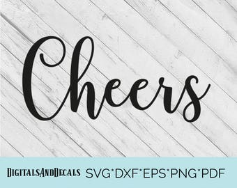 Cheers SVG, Christmas SVG, Christmas EPS, Cricut Christmas Svg, Holiday Svg Files, Christmas for Cricut, Winter Svg