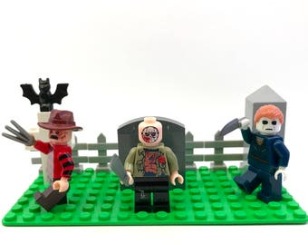 Jason's Halloween Nightmare 2 Custom Lego Compatible Set Freddy Krueger Friday the 13th Michael Myers