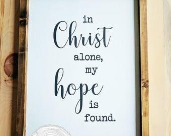 Sign, Home Decor, Hope, Christ, Decor, Gifts, Faith