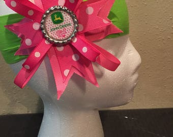 John Deere hair bow/ headband