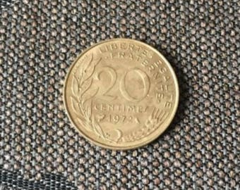 1972 FRANCE 20 CENTIMES