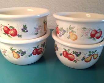 "Vintage Corelle ""Abundance"" 7 oz. dessert cups"