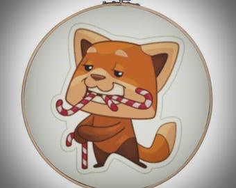 020 - Freddie love candy - cross stitch pattern