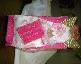 Pink and White Gift Bag