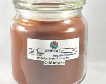 Cafe Mocha Large Candle