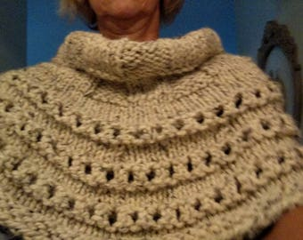 handmade knitted capelet