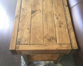 Custom built side table