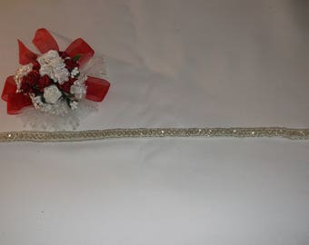 Small Silver Circle Beaded Trim