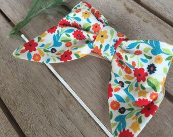 sailor bow• spring •summer•flowers •nylon head band• hair clip