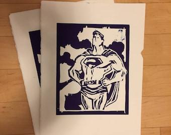 Superman Relief Print