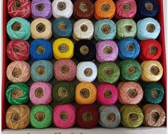 Set of 42 small spools 100% cotton Egypt n ° 12