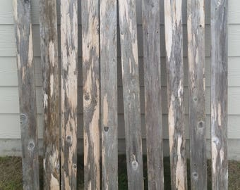 """1 Reclaimed Old Cedar Fence Board 3.5"""" x 48"""" Rustic Barn Wood Crafts picture frames"""