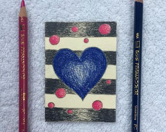 Original Art Card - Blue Heart