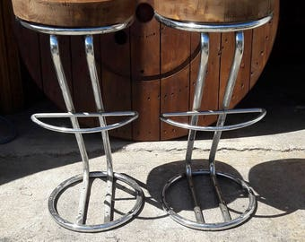 Pair of bar stools industrial loft workshop