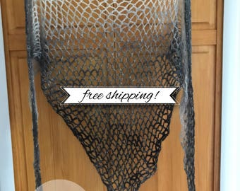 Gradiant Fishnet Shawl •finished product•