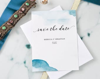 Beach Wedding Save the Date Invitations online, customized, Printable wedding Ocean Romantic wedding Invitation, Romantic Wedding
