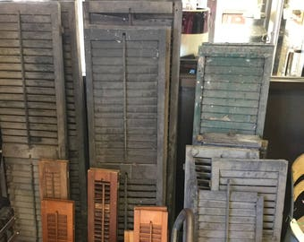 Pairs of Antique Shutters in a Variety of Sizes