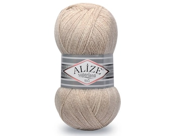 Superlana TIG Alize yarn Knitting yarn Hand knit yarn Soft yarn Winter yarn Blend wool Wool yarn Acrylic yarn Crochet yarn Blend yarn