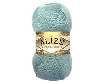Angora Gold Alize Blend wool Mohair yarn Acrylic yarn Fine yarn Knitting yarn Hand knit yarn Soft yarn Spring yarn Winter yarn Crochet yarn