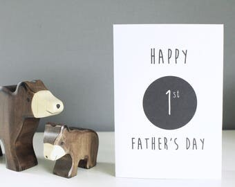First Father's day - Father's day card - Dad card - Card for Daddy