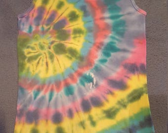 tie dye tank top mens XL