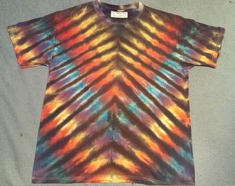 "tie dye t-shirt adult large""rainbow tiger"""