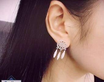 Indian Dream Catcher Drop Earrings